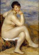Pierre-Auguste Renoir paintings art Bather Drying Her Feet 1907