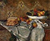 Paul Cezanne paintings Compotier and Plate of Biscuits 1877