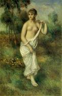 Reproduction of Pierre-Auguste Renoir paintings art Bather2 1887