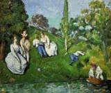 Reproduction of Couples Relaxing by a Pond 1873 1875