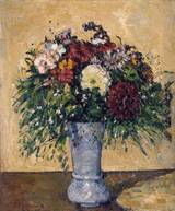 Reproduction of Flowers in a Blue Vase 1873 1875