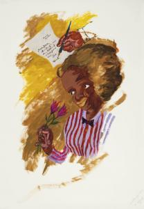 Reproduction of Robert H. Colescott artwork A Letter From Paris