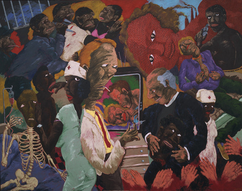 Reproduction of Robert H. Colescott Painting's Emergency Room