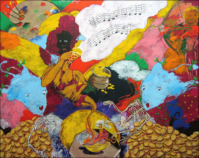 Reproduction of Robert H. Colescott Painting artwork Ode to Joy