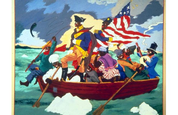 Reproduction of Robert H. Colescott Painting artwork wellsfargo