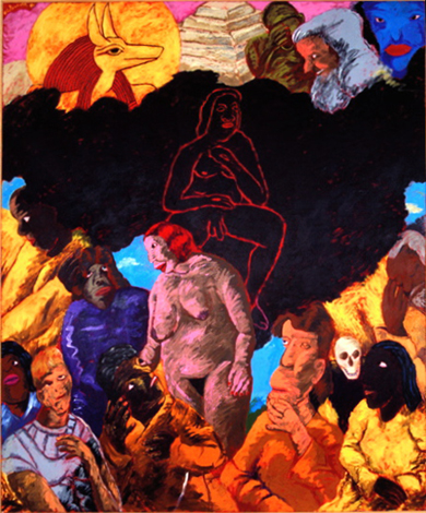 Reproduction of Robert H. Colescott Second Thoughts on Eternity