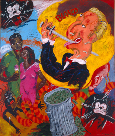 Reproduction of Robert H. Colescott's Painting Showtime, 1996