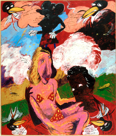 Reproduction of Robert H. Colescott's Painting Summer Time, 1995