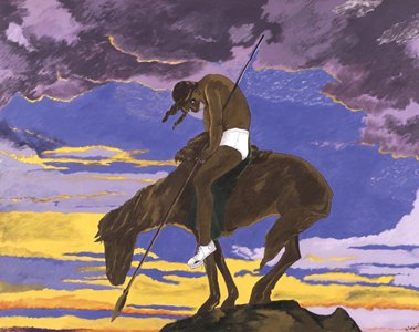 Reproduction of Robert H. Colescott's The American Indian
