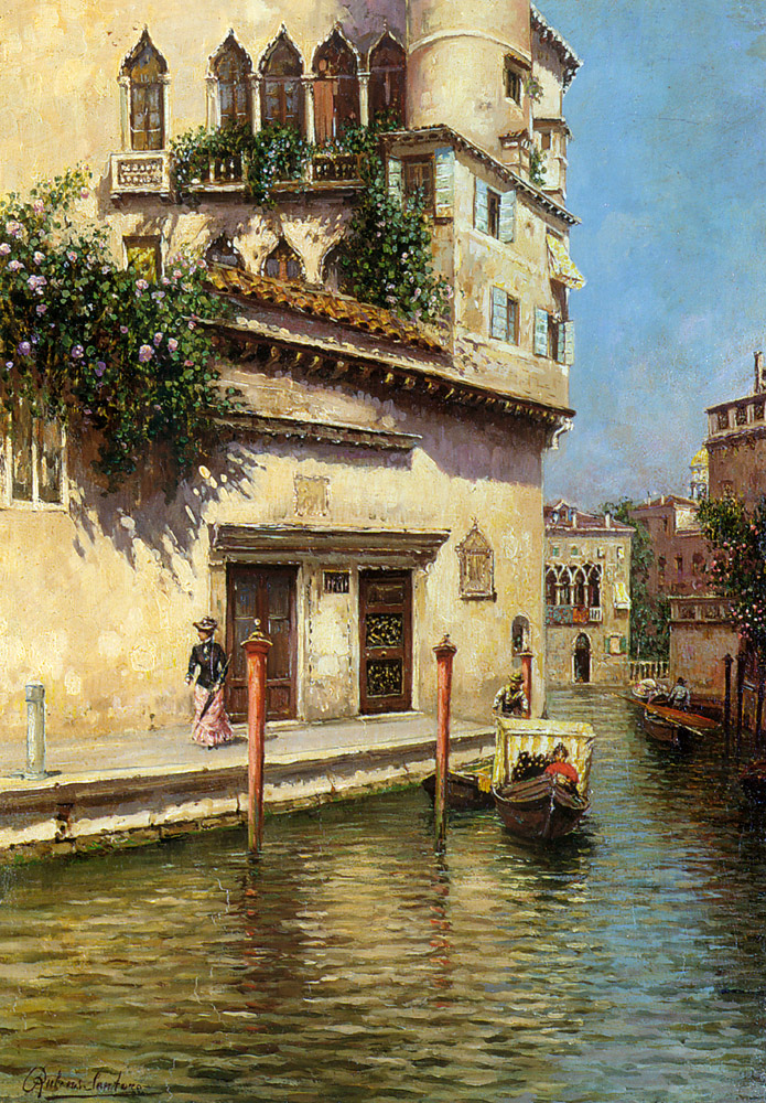 Reproduction Rubens Santoro oil paintnigs A Venetian Backwater