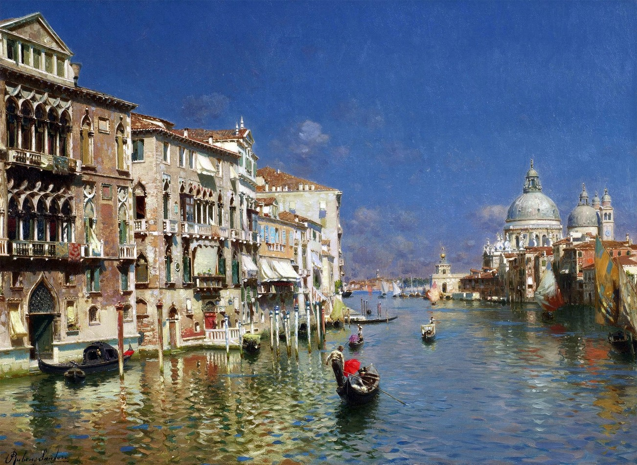 Copy Rubens Santoro Venetian Realism landscapes The Grand Canal