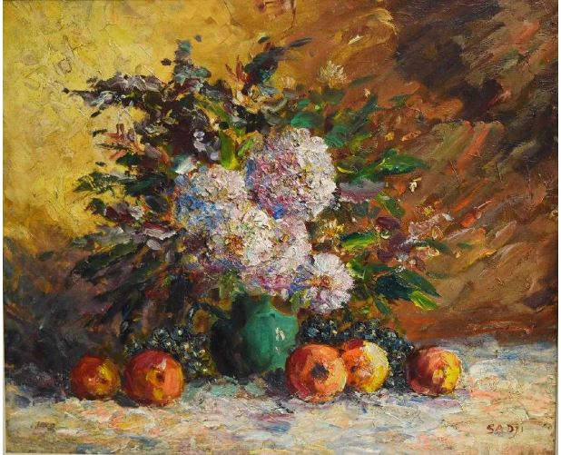 Reproductions of Sadji Sha Qi paintings Fruit and Flowers