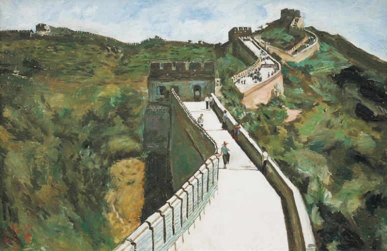 Reproductions of Sadji Sha Qi paintings great wall
