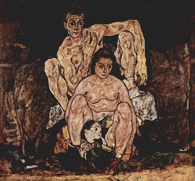 Reproduction Egon Schiele Painting Art The Family, 1918