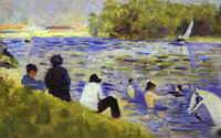 Reproduction of Bathers (Study For Bathers At Asnieres) 1883-84