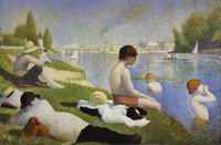 Reproduction of Bathers At Asnieres 1883-84