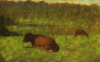 Reproduction of Cows In A Gield 1882