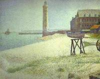 Reproduction of Hospice And Lighthouse Honfleur 1886