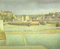 Reproduction of Port En Bese In Lavant Port Maree Basse 1888