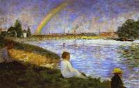 Reproduction of Rainbow (Study For Bathers At Asnieres) 1883