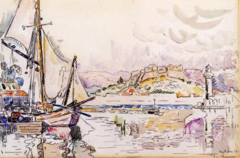 Reproductions of Paul Signac paintings artwork Antibes
