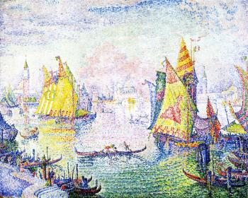 Paul Signac paintings artwork, Basin of San Marco, Ven