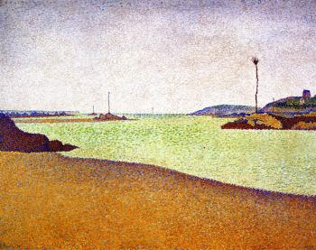 Paul Signac paintings artwork, The Beacons at Saint-Br
