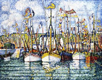 Paul Signac paintings artwork, Blessing of the Tuna Bo