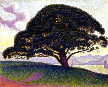 Paul Signac paintings artwork, The Bonaventure Pine