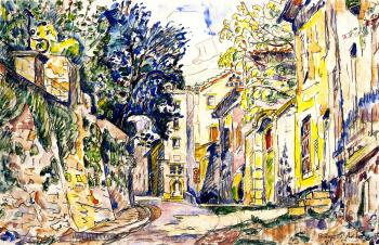 Paul Signac paintings artwork, Bourg-Saint-Andeol