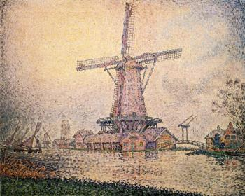 Reproductions of Paul Signac paintings, Dutch Mill at Edam