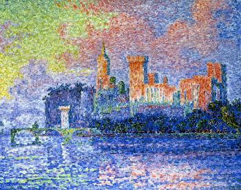 Reproductions of Paul Signac paintings, Evening, Avignon (Châte