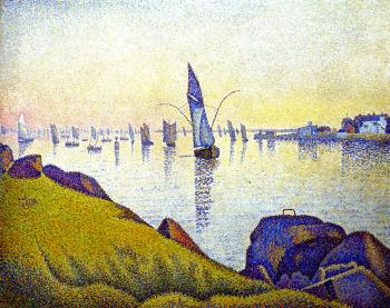 Reproductions of Paul Signac paintings, Evening Calm, Concarnea