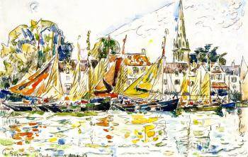 Reproductions of Paul Signac paintings, Fishing Boats, Le Poule