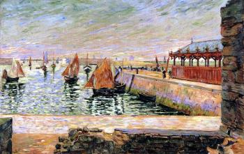 Reproductions of Paul Signac paintings, The Fish Market, Port-e