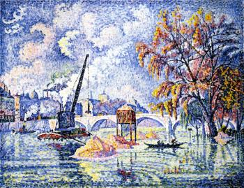 Reproductions of Paul Signac paintings, Flood at the Pont Royal