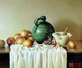 Still Life, Handmade oil painting on Canvas:still life F008