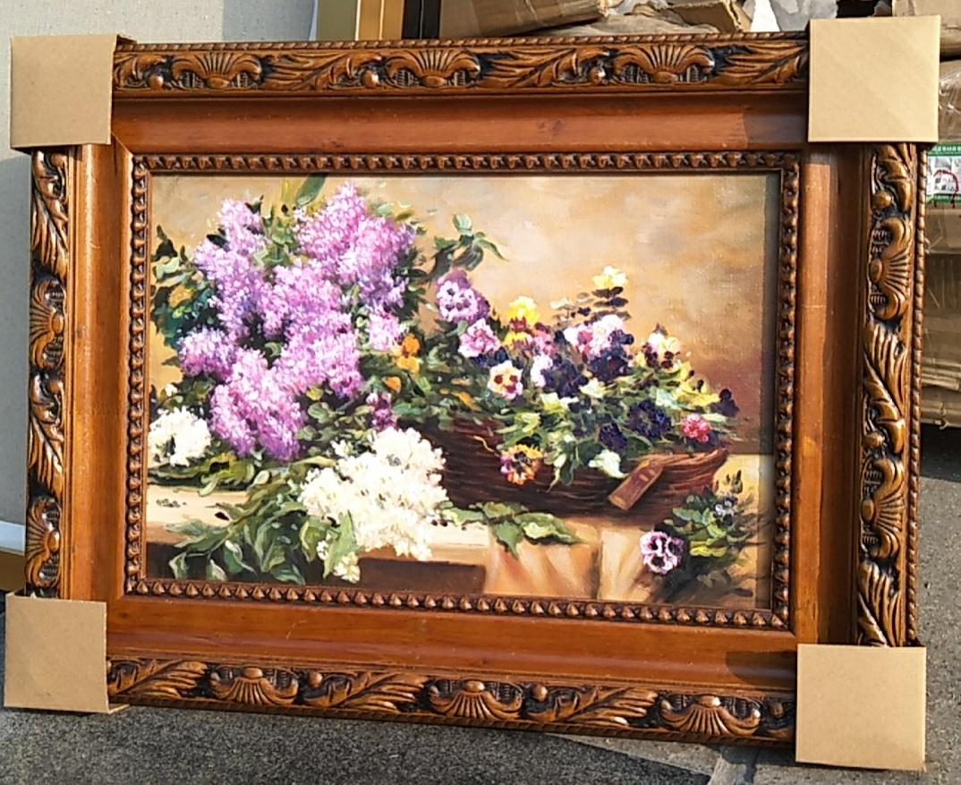 "18 x 12"" framed oil painting on canvas still life"