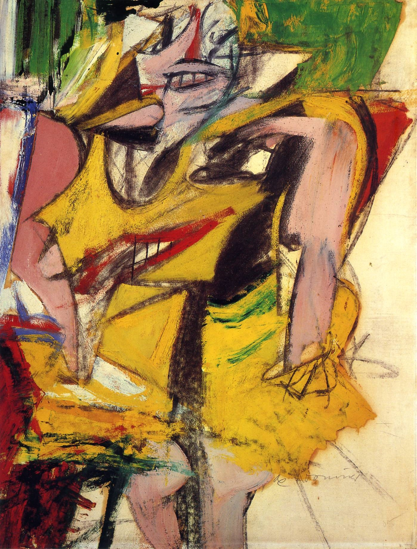 Willem de Kooning painting Woman 1953 Reproductions of paintings