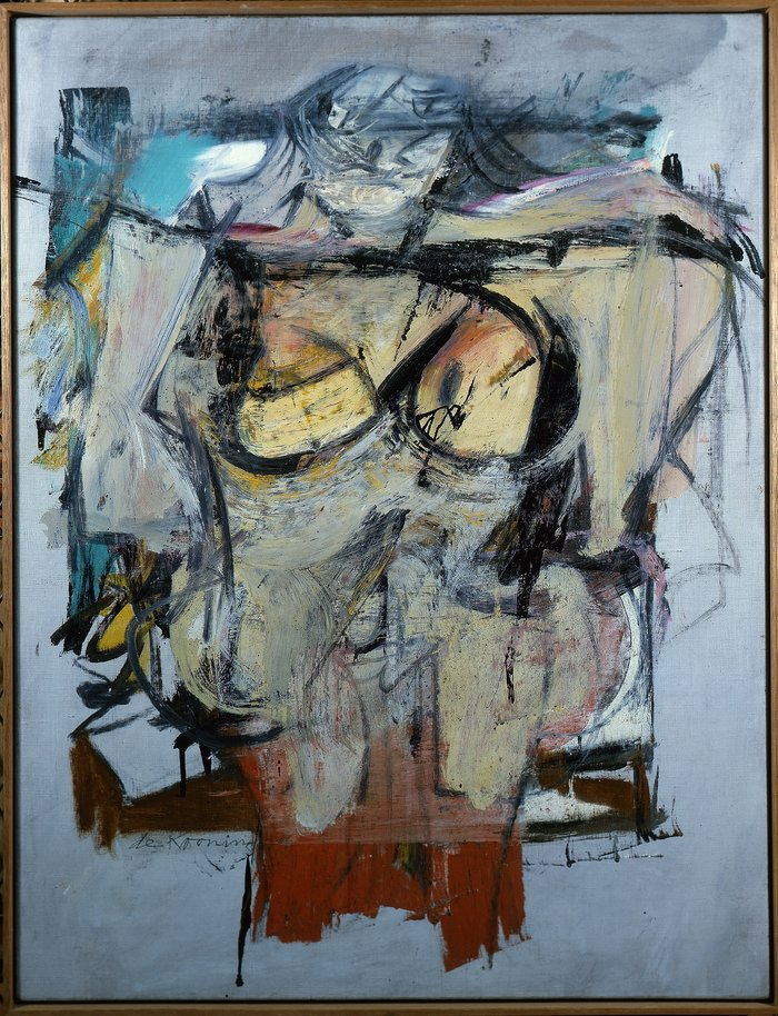 Willem de Kooning paintings Woman Ochre Reproduction on canvas