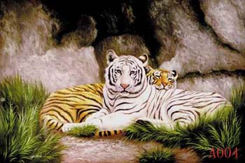 Animals, Handmade oil painting on Canvas:A004