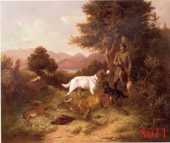 Animals, Handmade oil painting on Canvas:A0011
