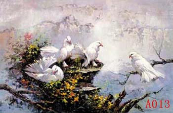 Non-Famous Artist or Original oil painting: Animal:A0013