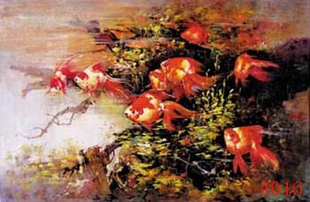 Non-Famous Artist or Original oil painting: Animal:A0016