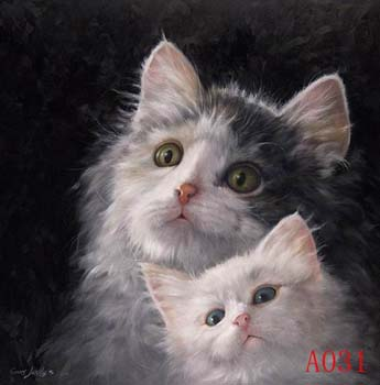 Non-Famous Artist or Original oil painting: Animal:A0031