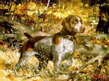 Non-Famous Artist or Original oil painting: Animal:A0042