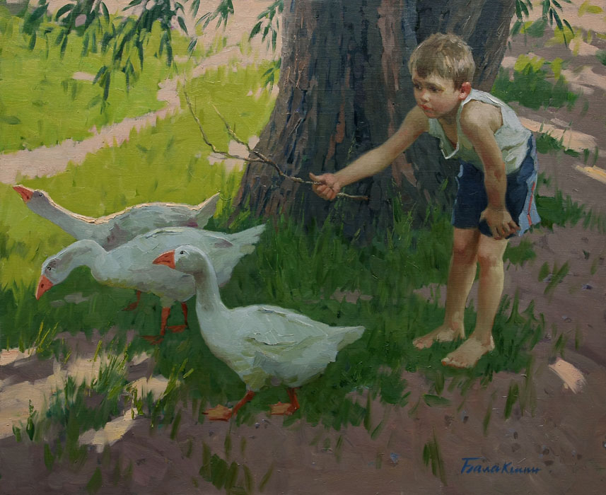 Reproductions of Balakshin's fine art for sale,geese go
