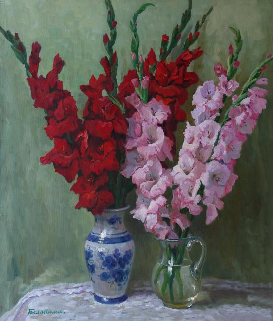 Reproductions of Balakshin's art for sale,Gladioli