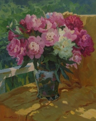 Reproductions of Balakshin's painting art,Pink peonies