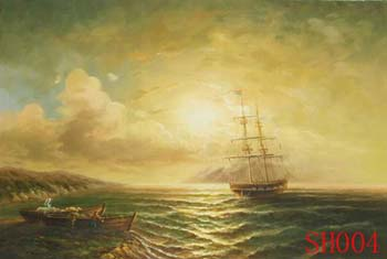 Seascape, Handmade oil painting on Canvas:seascapeSH004